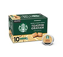Starbucks Coffee Ground K Cup Pods Toasted Graham - 10-0.33 Oz