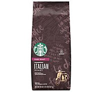 Starbucks Coffee Ground Dark Roast Italian Roast Bag - 20 Oz