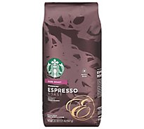 Starbucks Coffee Whole Bean Dark Roast Espresso Roast Bag - 20 Oz