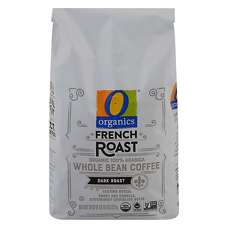 O Organics Coffee Whole Beans Dark Roast French Roast - 26 Oz