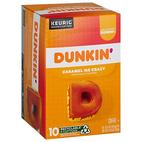 Dunkin Donuts Bakery Series Coffee K-Cup Pods Caramel Coffee Cake - 10-0.37 Oz