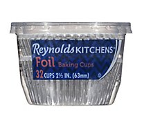 Reynolds Baking Cups Foil 2 1/2 Inches - 32 Count