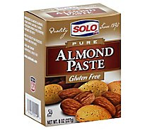 SOLO Almond Paste Pure - 8 Oz