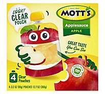 Motts Applesauce clear pouches - 4-3.2 Oz