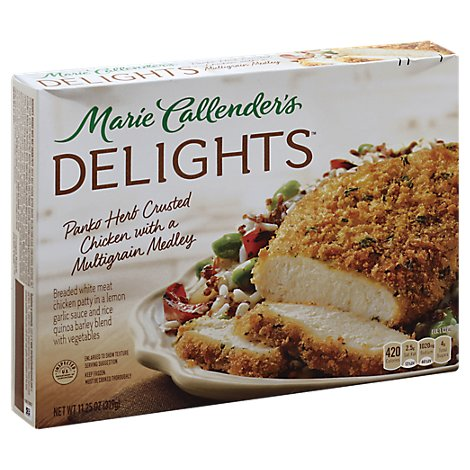 Marie Callenders Delights Meal Panko Herb Crusted Chicken With A Multigrain Medley - 11.25 Oz