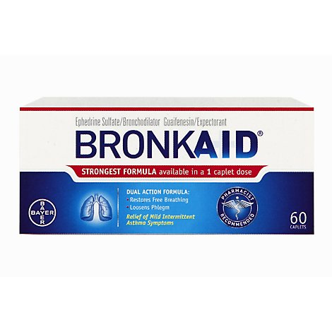 Bronkaid Dual Action Caplet - 60 Count