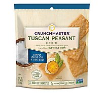 Crunchmaster Crackers Tuscan Peasant Simply Olive Oil & Sea Salt Pouch - 3.54 Oz