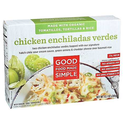 Good Food Enchiladas Chicken Verde - 10.1 Oz