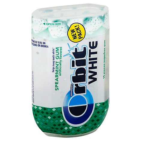 Orbit White Spearmint Sugarfree Gum Single Pack 15 Sticks