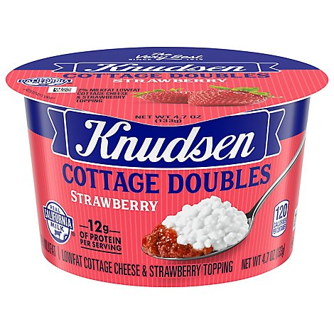 Knudsen Cottage Cheese Double Strawberry - 4.7 Oz