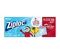 Ziploc Seal Top Bags Storage Quart Holiday - 24 Count