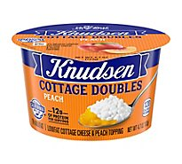 Knudsen Cottage Cheese Double Peach - 4.7 Oz