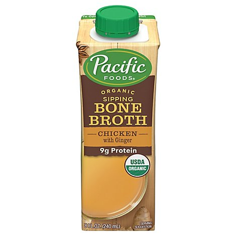 Pacific Organic Bone Broth Chicken With Ginger - 8 Fl. Oz.