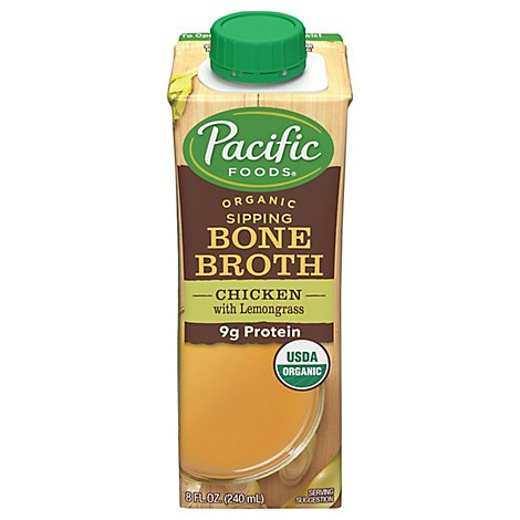 Pacific Organic Bone Broth Chicken With Lemongrass - 8 Fl. Oz.