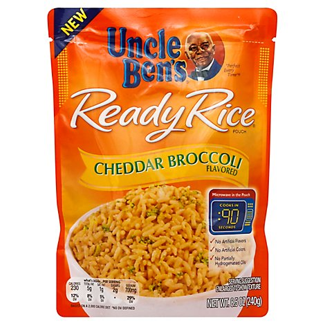 Uncle Bens Ready Rice Cheddar Broccoli Flavored Pouch - 8.5 Oz
