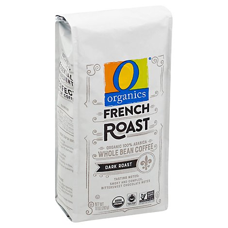 O Organics Coffee Whole Beans Dark Roast French Roast - 10 Oz