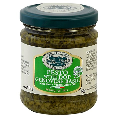 San Giuliano Pesto with Dop Genovese Basil Jar - 6.35 Oz