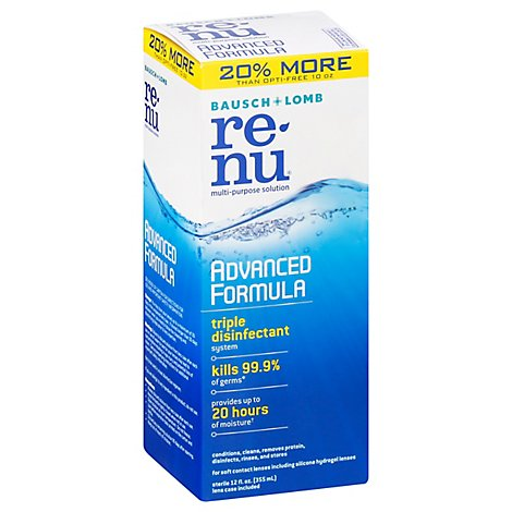 re-nu Multi-Purpose Solution Bausch & Lomb Advanced Formula - 12 Fl. Oz.