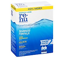 re-nu Multi-Purpose Solution Bausch & Lomb Advanced Formula Twin Pack - 2-12 Fl. Oz.