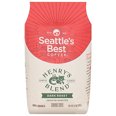 Seattles Best Coffee Coffee Ground Medium Roast Henrys Blend - 12 Oz