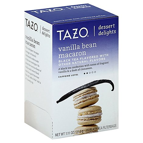 TAZO Tea Bags Dessert Delights Black Tea Vanilla Bean Macaron - 15 Count