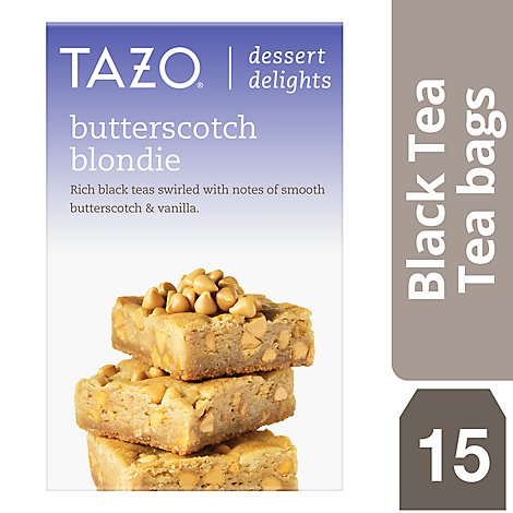TAZO Tea Bags Dessert Delights Black Tea Butterscotch Blondie - 15 Count