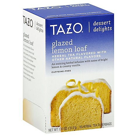 TAZO Tea Bags Dessert Delights Herbal Tea Glazed Lemon Loaf - 15 Count