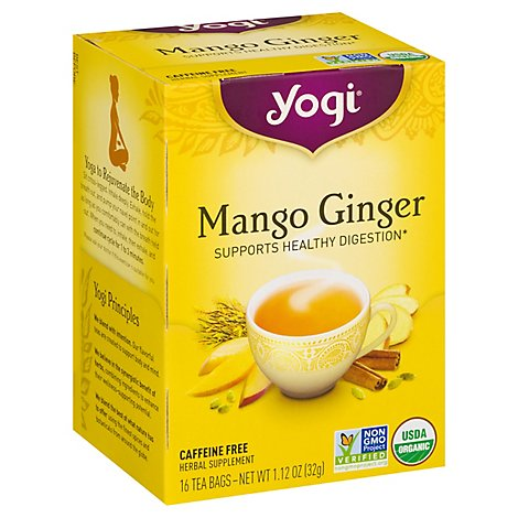 Yogi Herbal Supplement Tea Mango Ginger 16 Count - 1.12 Oz