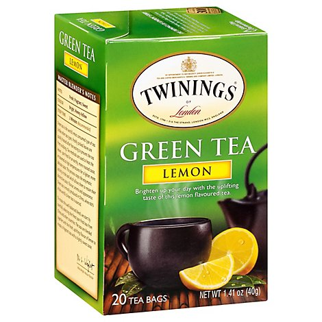 Twinings of London Green Tea Lemon - 20 Count