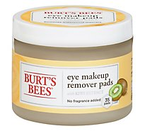 Burt Bee Eye Makeup Remover - 35 Count