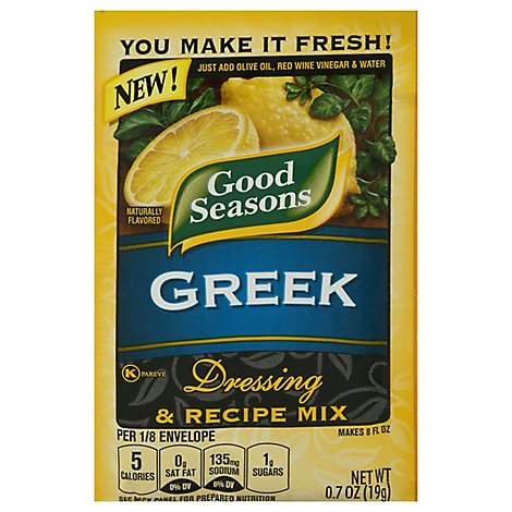 Good Seasons Dressing & Recipe Mix Greek - 0.7 Oz