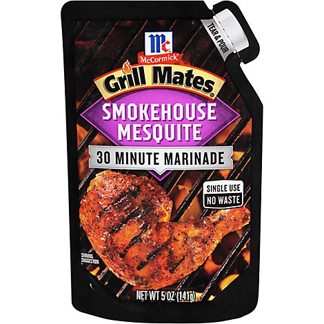 McCormick Grill Mates Marinade 30 Minutes Smokehouse Mesquite - 5 Oz
