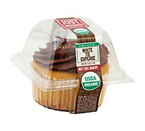 Just Desserts Cupcake Organic White Tie - Each
