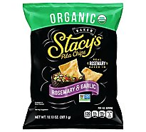 Stacys Pita Chips Rosemary & Garlic Organic - 10.13 Oz