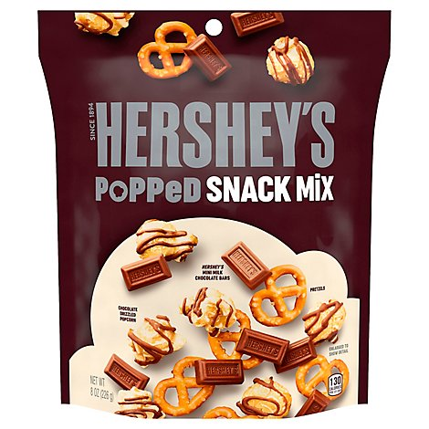 HERSHEYS Snack Mix Popped Assorted - 8 Oz