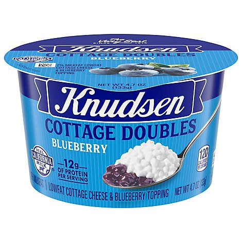 Knudsen Cottage Cheese Double Blueberry - 4.7 Oz