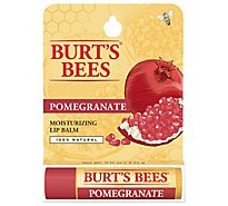 Burts Bees Lip Balm Moisturizing Pomegranate - 0.15 Oz