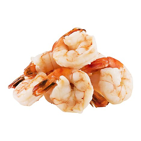 Seafood Counter Shrimp Black Tiger Cooked 6-8 Count Peeled & Deveined Tail-On - 0.50 LB