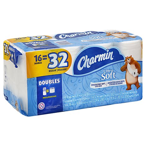 Charmin Ultra Soft Bathroom Tissue Mega Rolls 2 Ply - 12 Roll