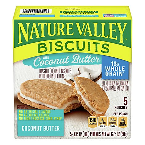 Nature Valley Biscuits With Coconut Butter - 5-1.35 Oz