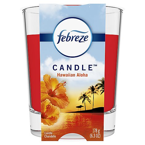 Febreze Scented Candle Odor Eliminating Hawaiian Aloha - 6.3 Oz