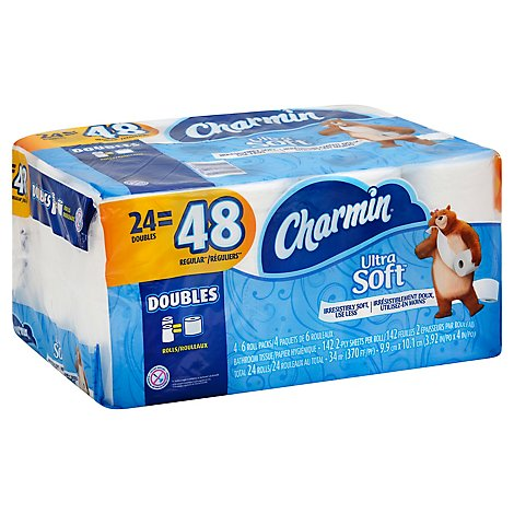 Charmin Bathroom Tissue Ultra Soft Double Roll 2 Ply - 24 Roll