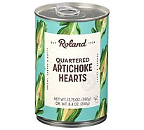 Roland Artichoke Hearts Quartered - 13.75 Oz