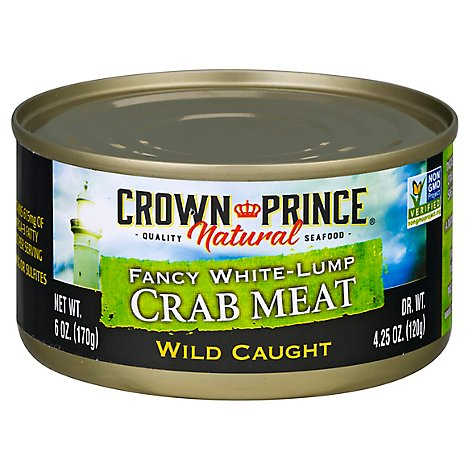 Crown Prince Crab Meat Fancy White Lump - 6 Oz