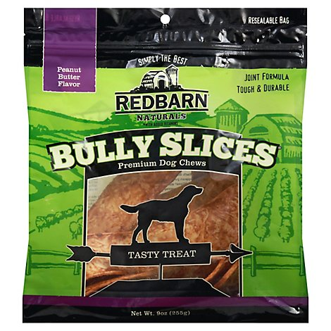 Redbarn Naturals Dog Chew Bully Slices Peanut Butter Flavor Bag - 9 Oz