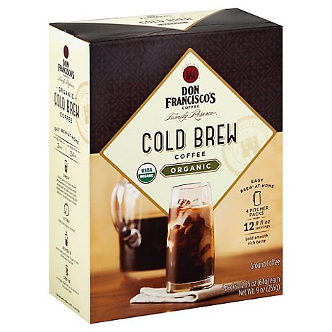 Don Francisco Family Reserve Organic Cold Brew Coffee - 4-2.25 Oz
