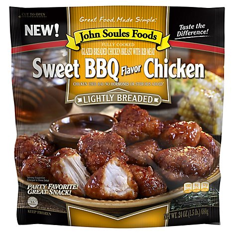 John Soules Foods Sweet Bbq Chicken - 24 Oz