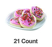 Pink Frosted Sugar Cookie 21ct - 28.3 Oz
