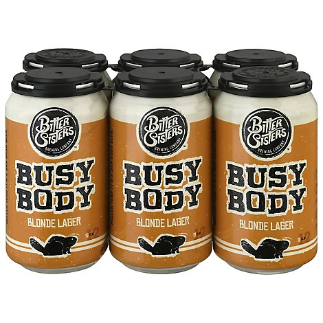 Bitter Sisters Busy Body Blonde Lager In Cans - 6-12 Fl. Oz.