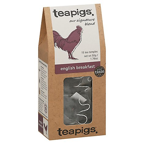 Teapigs English Breakfast Morning Glory Tea Temples - 15 Count